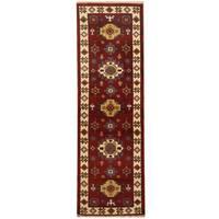Handmade Herat Oriental Indo Tribal Kazak Wool Runner  - 2'2 x 6'8 (India)