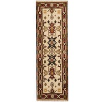 Herat Oriental Indo Hand-knotted Tribal Kazak Wool Runner (2'1 x 6'7) - 2'1 x 6'7