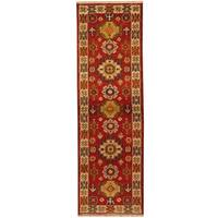 Herat Oriental Indo Hand-knotted Tribal Kazak Wool Runner (2'1 x 6'5)