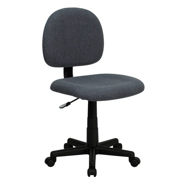 Borun Grey Nylon/Metal Armless Ergonomic Swivel Adjustable Office Chair