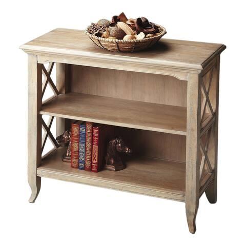 Handmade Butler Newport Driftwood Low Bookcase