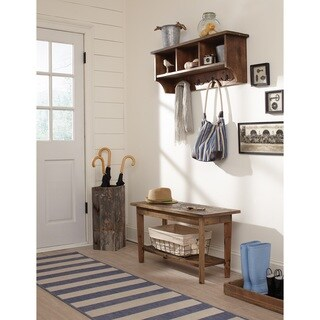 Alaterre Heritage Storage Coat Hook with Bench Set