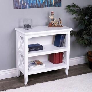 Butler Newport Glossy White Low Rectangular Bookcase