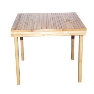 Baroque Natural Finish Bamboo Dining Table