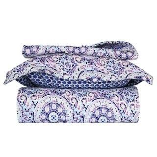 Blue and Purple Mosaic Quilt Set