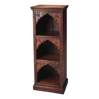 Butler Mihrab Brown Distressed Wood Bookcase