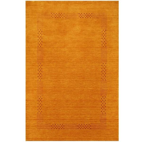Handmade Herat Oriental Indoed Tribal Gabbeh Wool Rug - 4' x 6' (India)