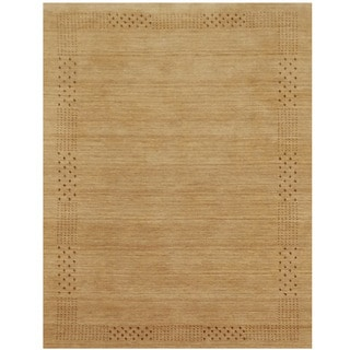 Herat Oriental Indo Hand-loomed Tribal Gabbeh Beige Wool Rug (8' x 10')