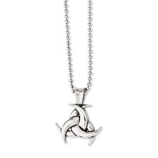Versil Chisel Men's Stainless-steel 22-inch Polished/Antiqued Celtic Knot Necklace