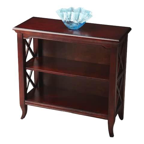 Butler Newport Plantation Cherry Low Rectangular Bookcase - Dark Brown