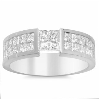 Artistry Collections 14k White Gold 3 3/4-carat Men's Diamond Ring