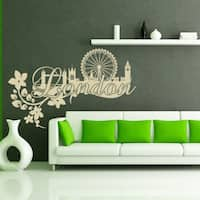 Style and Apply London Floral Vinyl Wall Decal and Sticker Mural Art Home Decor