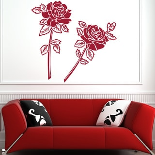 Stick & Apply 'Rose Couple' Vinyl Sticker Wall Art