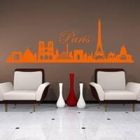 Style and Apply Paris City Skyline Vinyl Wall Decal