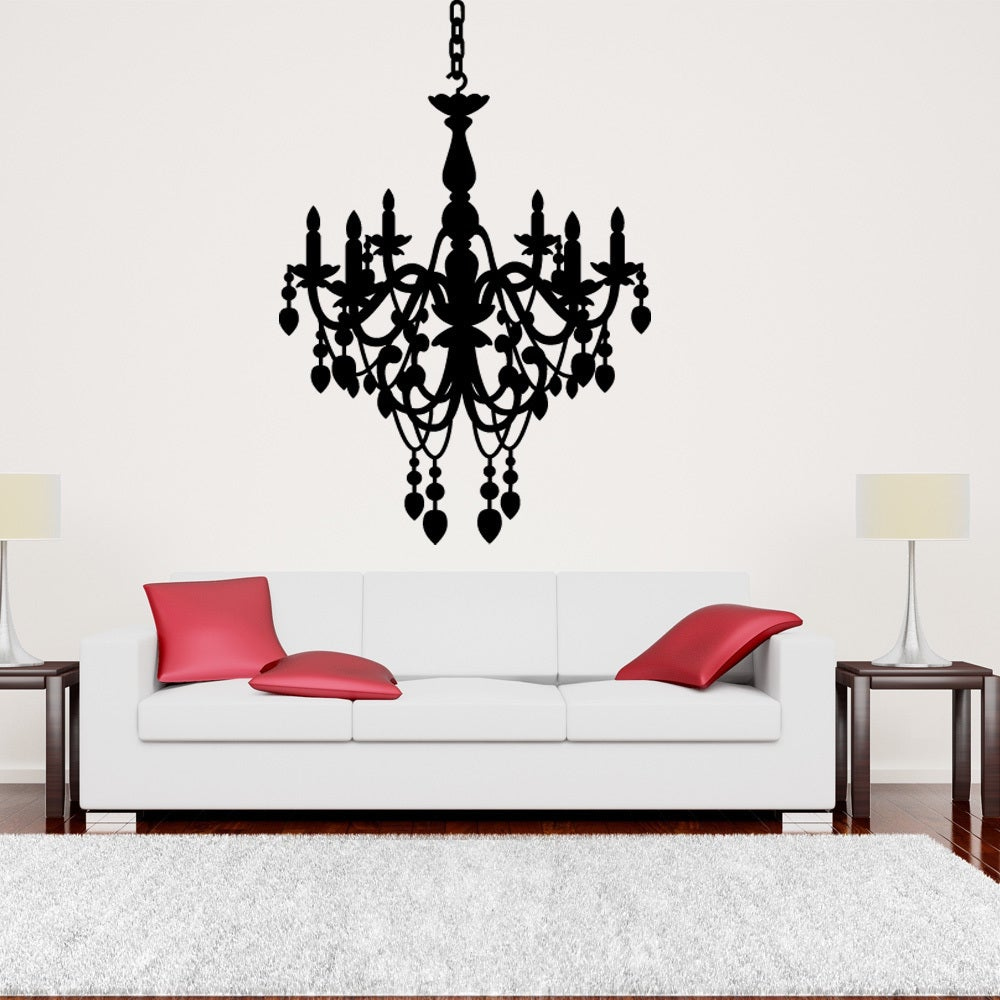 S&A Style & Apply Black Chandelier Wall Art Decal (24in x...