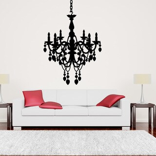 Style & Apply Black Chandelier Wall Art Decal