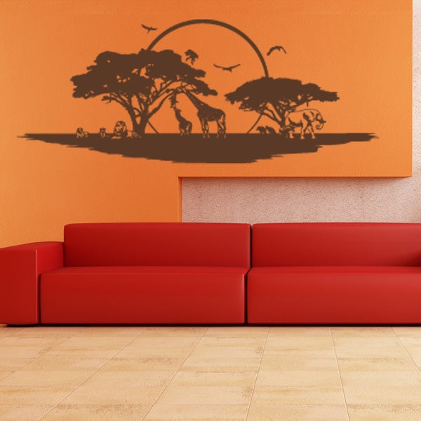 Style and Apply Savannah Vinyl Wall Decal and Sticker Mural Art Home Decor
