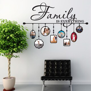 Style & Apply Family Picture Frame Vinyl Wall Decal (More options available)