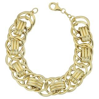 Fremada Italian 14k Yellow Gold 16-mm Fancy Link Bracelet (7.5 inches)