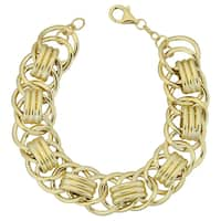 Fremada Italian 14k Yellow Gold 16-mm Fancy Link Bracelet (7.5 inches)