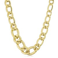 Fremada Italian 14k Yellow Gold Graduated Twist Oval Link Necklace (18 inches)