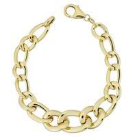 Fremda Italian 14k Yellow Gold Bold High Polish Oval Link Bracelet (7.5 inches)