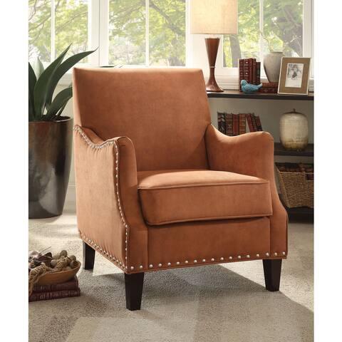 Sinai Orange/Dark Brown Fabric/Foam/Poplar Accent Chair