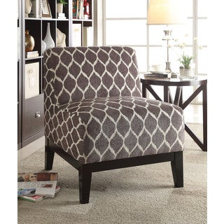Hinte Accent Chair, Brown Chenille