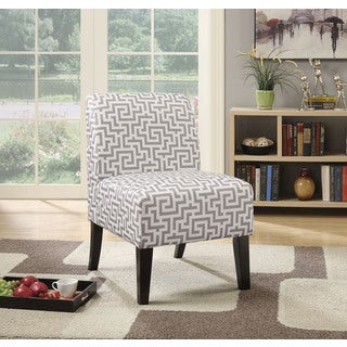 Ollano Grey Patterned Fabric Accent Chair