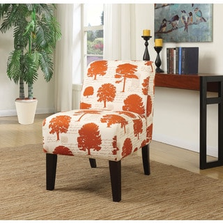 Ollano Multicolor Tree Pattern Fabric Accent Chair