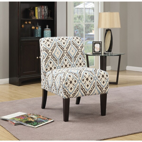 Missoni Style Print Accent Chair: Shop Ollano Multi-color Fabric, Foam, Wood Print Accent