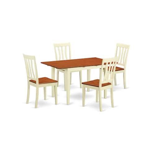 5-piece Kitchen Dinette Set with Dinette Table and 4 Dining Chairs