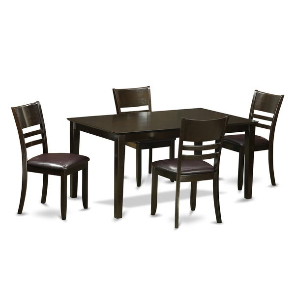 Shop Dining Room Sets: Shop Cappuccino Rubberwood 5-piece Dining Room Set With