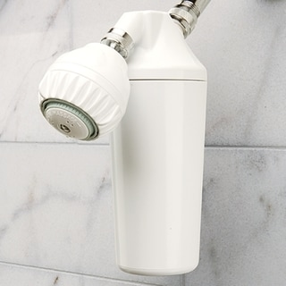 Hahn Shower White Plastic Filtration System and Shower Head