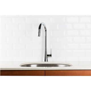 Hahn Contemporary Single Lever Pull-down Chrome Kitchen Faucet