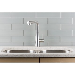 Hahn Contemporary Duo Stainless Steel Single Lever Pull-out Kitchen Faucet