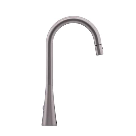 Hahn Contemporary Stainless Steel Single-lever Pull-down Kitchen Faucet - Silver