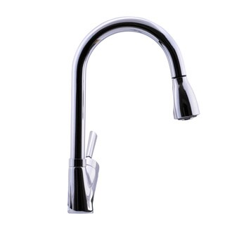 Hahn Avante-Garde Duo Joystick Chrome Pull-down Kitchen Faucet