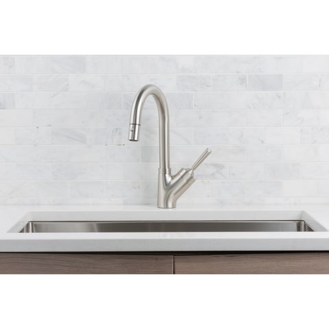 Hahn Stainless Steel Joystick Single Lever Pull-down Kitchen Faucet