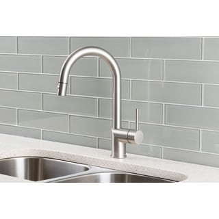 Hahn Stainless Steel/Solid Brass Ultra-modern Single Lever Pull-down Kitchen Faucet