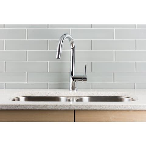 Hahn Ultra-modern Chrome Single-lever Pull-down Kitchen Faucet