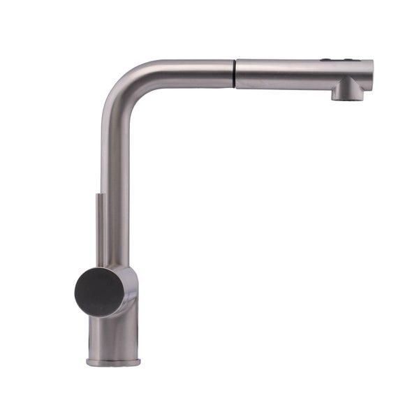 Ultra Modern Kitchen Faucets hahn chrome ultra-modern duo single-lever pull-out kitchen faucet