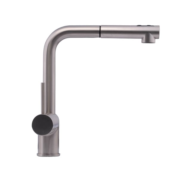 Hahn Chrome Ultra-Modern Duo Single-lever Pull-out Kitchen Faucet ...