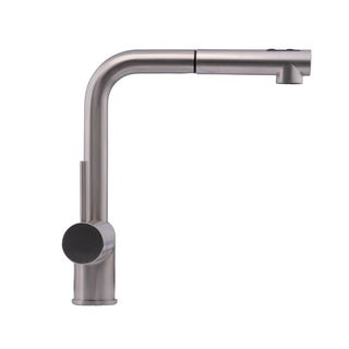Hahn Chrome Ultra-Modern Duo Single-lever Pull-out Kitchen Faucet