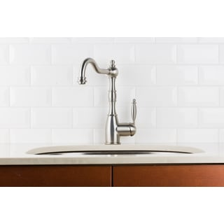 Hahn Victorian Chrome Single Lever Classic Kitchen Faucet