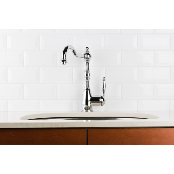 Hahn Victorian Classic Chrome Single-ever Kitchen Faucet