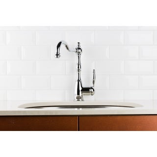 Hahn Victorian Classic Chrome Single-ever Kitchen Faucet