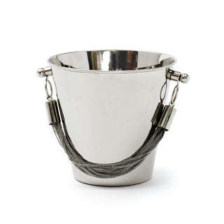 Hip Vintage Silver Stainless Steel Chained Ice Bucket