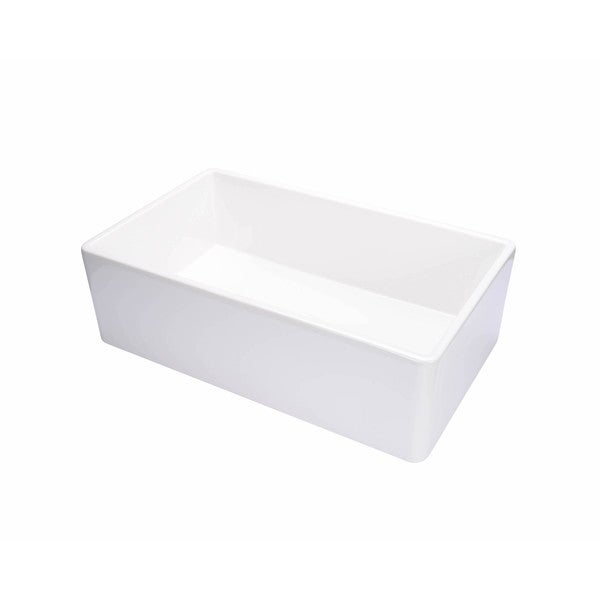 Hahn White Fireclay 26-inch Farmhouse Single Sink - Free Shipping ...