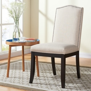 Jazz Beige Fabric/Wood Dining Chair (Set of 2)